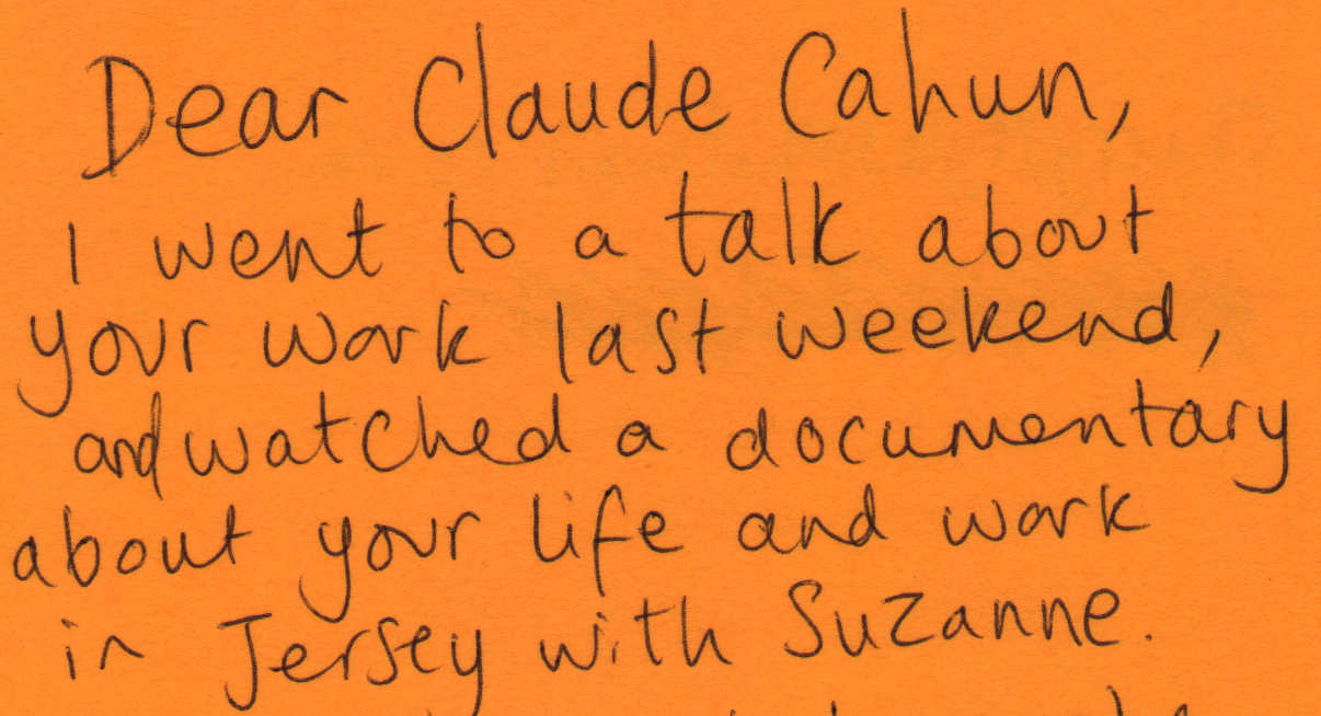 Letter to Claude Cahun from Cherry Styles