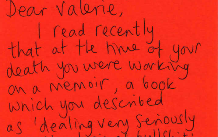 Letter to Valerie Solanas from Cherry Styles