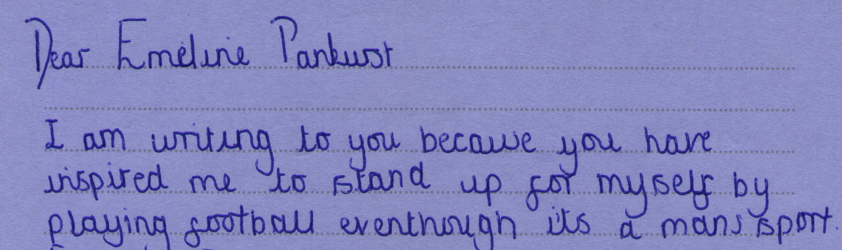 Letter to Emmeline Pankhurst from Jessica Banks